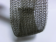 50mm width knitted double wire mesh