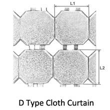 D type cloth curtain