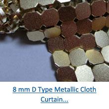 8 mm decorative gold metallic cloth curtain