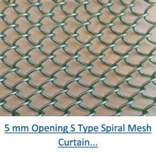 5 mm opening s type spiral mesh curtain pdf
