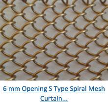 6 mm opening s type spiral mesh curtain pdf