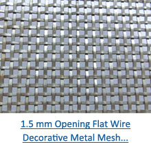 1.5 mm opening flat wire decorative metal mesh pdf