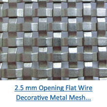 2.5 mm opening flat wire decorative metal mesh pdf