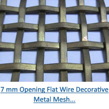 7 mm opening flat wire decorative metal mesh pdf
