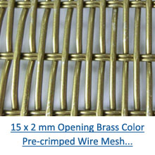 15 x 2 mm brass color crimped wire mesh pdf