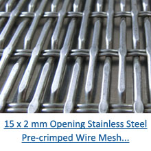 15 x 2 mm stainless steel decorative crimped wire mesh pdf